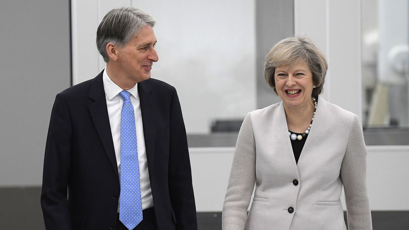 Philip Hammond, Theresa Mayová, brexit, veľká...
