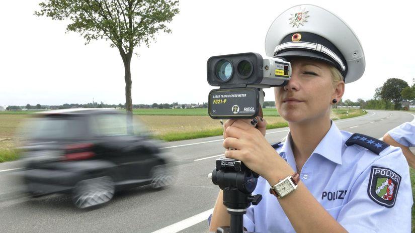 Meranie rýchlosti - polícia