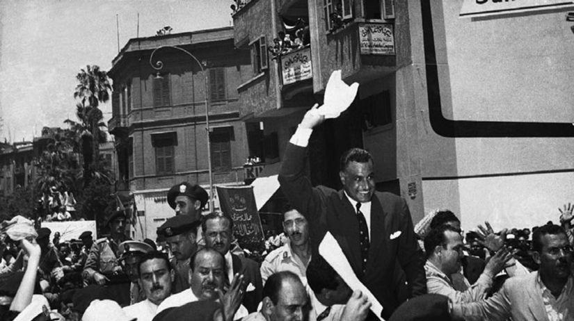 Gamál Násir, dav, oslavy
