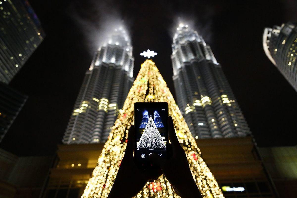Malajzia, Kuala Lumpur, Vianoce, Petronas Twin towers