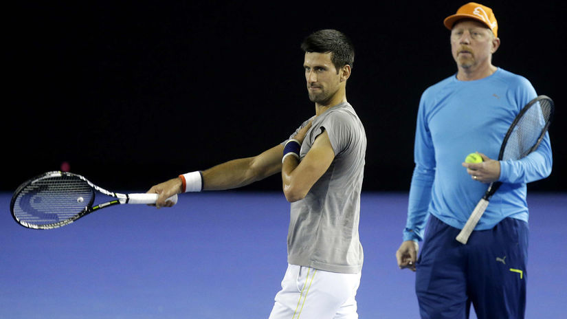 Novak Djokovič, Boris Becker