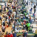 hypermarket, ľudia, nákup