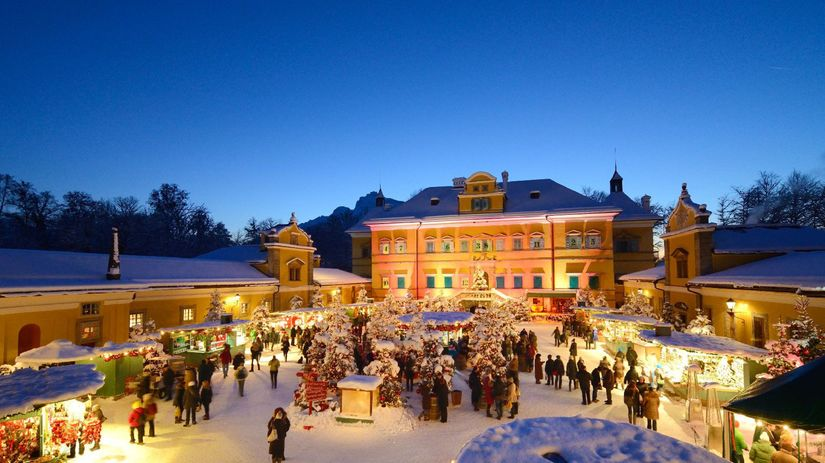 Salzburg, advent, vianočné trhy, Hellbrunner...