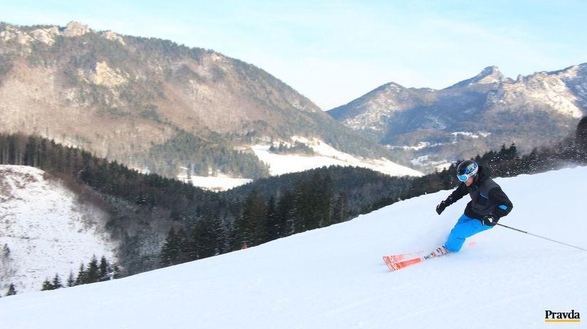 počasie, zima, lyžiar, lyžovačka