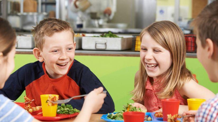 deti, obed, jedáleň, strava, výživa