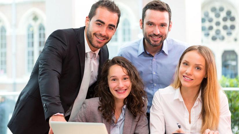 firma, kancelária, práca, zamestnanci, mladí...