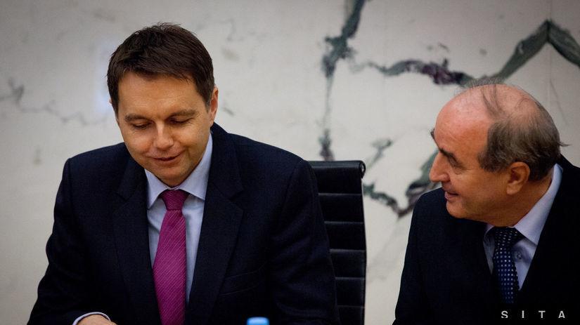 guvernér NBS Jozef Makúch, Peter Kažimír