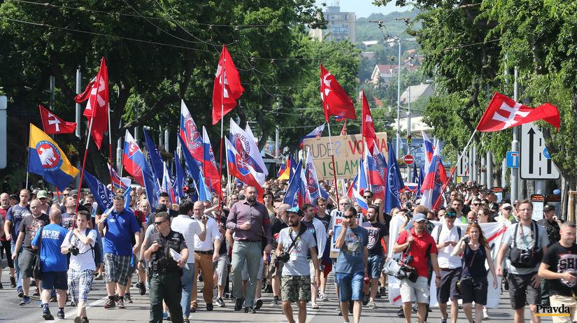 pochod extremistov, pochod, bratislava