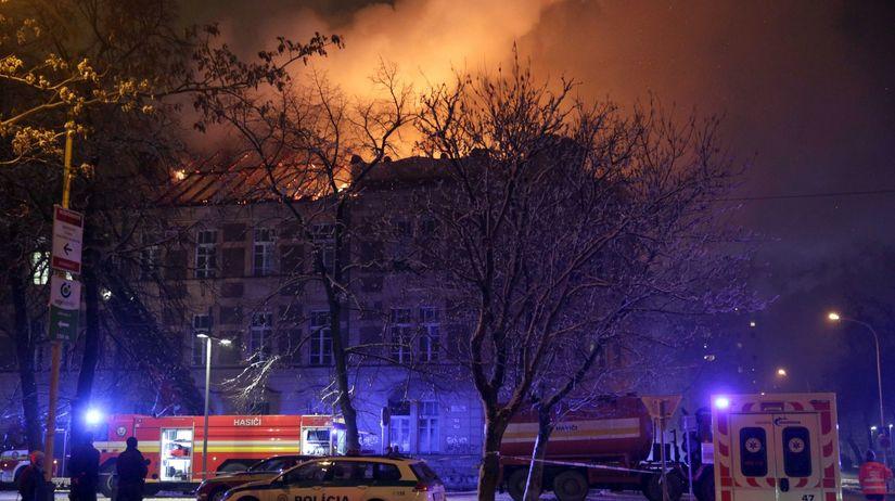 UPJŠ, Košice, požiar,
