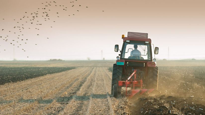 traktor, pole, pôda,