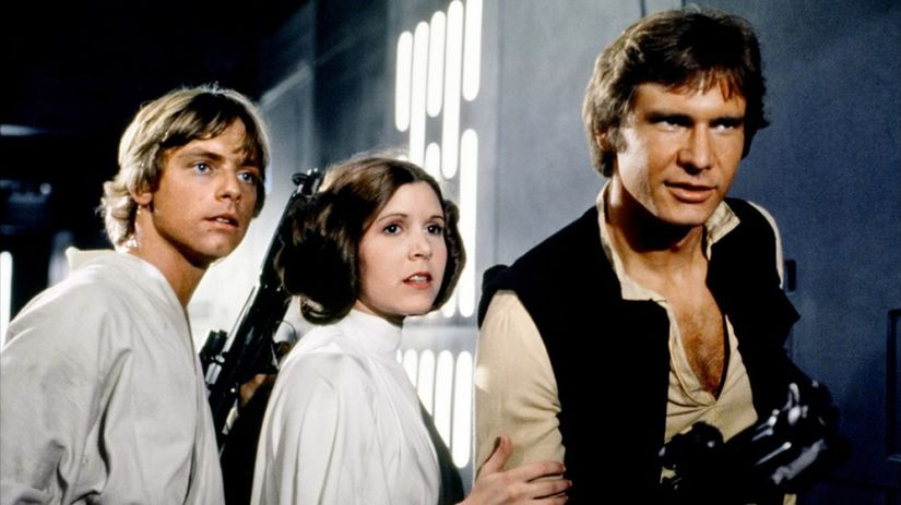 Mark Hamill Carrie Fisherová Harrison Ford