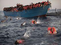 migranti, čln