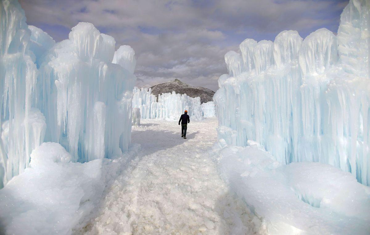 zima, ľad, mráz, cencúle, Utah