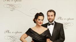 Herec Vlado Kobielsky a jeho pôvabná manželka.