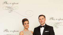 Herečka a moderátorka Lucia Hurajová s manželom.