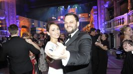 Moderátor Milan Zimnýkoval s manželkou.