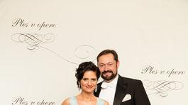 Operný spevák Otokar Klein s manželkou.