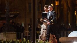 Prezident Hasičského a záchranného zboru (HaZZ) Alexander Nejedlý a televízna redaktorka Danica Kleinová.