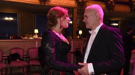 Riaditeľka Plesu v opere Andrea Cocherová s manželom Ivanom Golianom.
