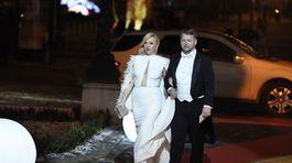 Riaidteľka Fashion TV Gabriela Drobová so snúbencom Karolom Rumanom.