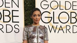 Nominovaná herečka Ruth Negga v kreácii Louis Vuitton.