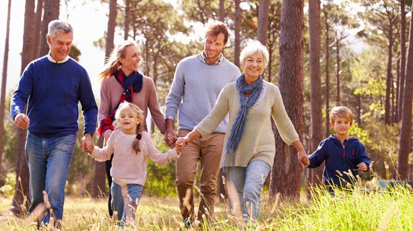 rodina, prechádzka