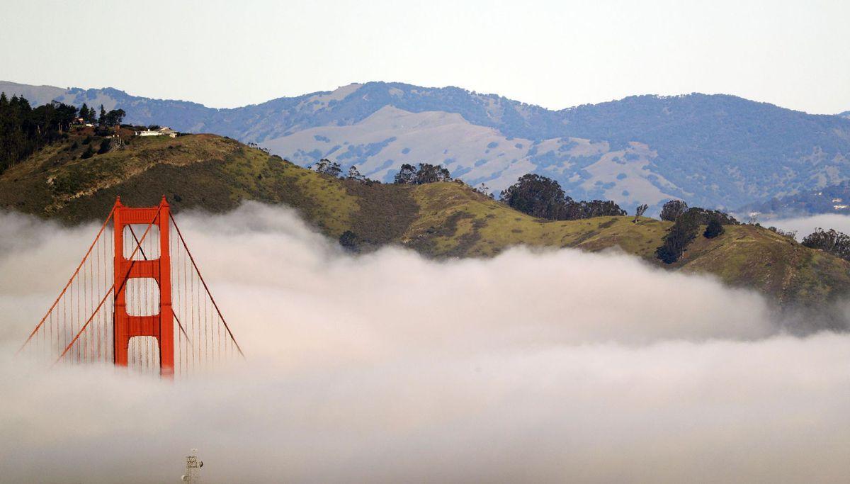 San Francisco, Golden Gate bridge, most, hmla, Kalifornia
