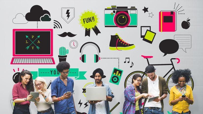 mládež, mladí ľudia, komunikácia, technológie,...