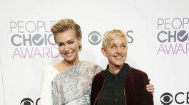 Herečka Portia de Rossi (vľavo) a jej manželka Ellen DeGeneres.