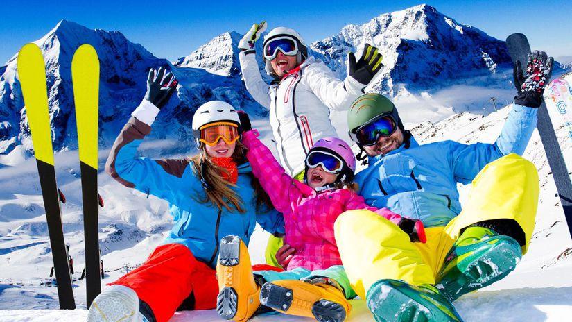 lyžovačka, lyže, lyžiari, zima, sneh, svah,...