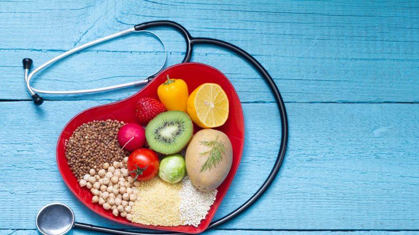 srdce, fonendoskop, zdravá výživa, strava,...