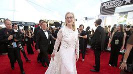 Herečka Meryl Streep sa obliekla do šiat Valentino.