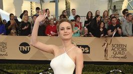 Oscarová herečka Brie Larson v kreácii Jason Wu.