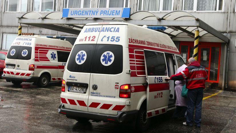 sanitka, úraz, pacient, zachranka, poladovica,...