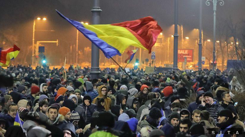Rumunsko, protesty,