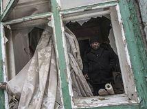 Ukrajina, výbuch, boje, separatisti