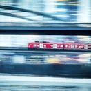 vlak, doprava, most, rieka, rýchlosť,