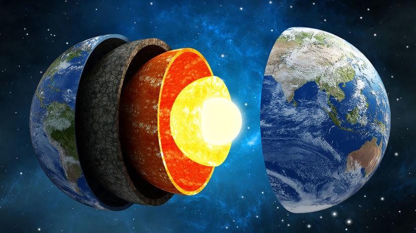 zem, zemské jadro, jadro, zloženie, vesmír,...