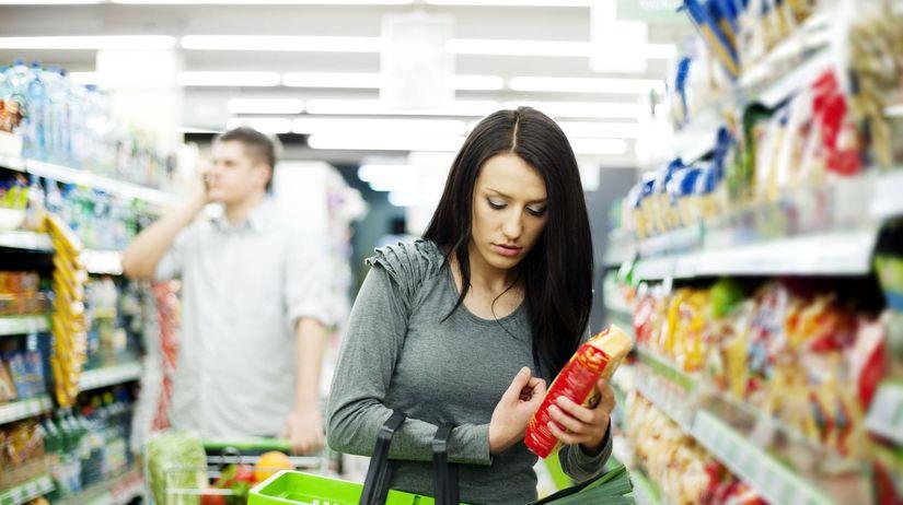 žena, obchod, potraviny, nákup, kupujúca,...