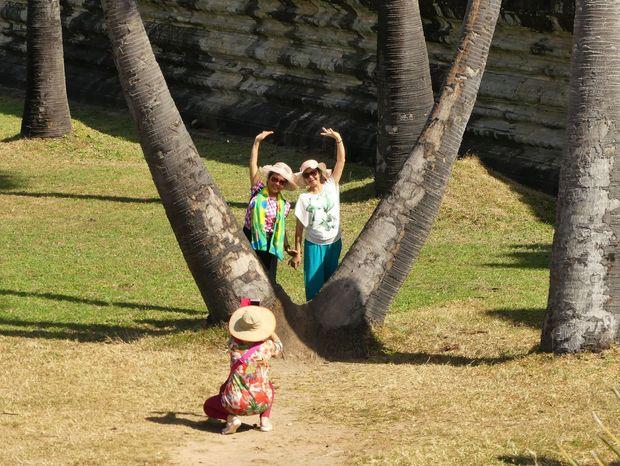 V chrámovom komplexe Angkor Wat. Kambodžské a japonské krásy.