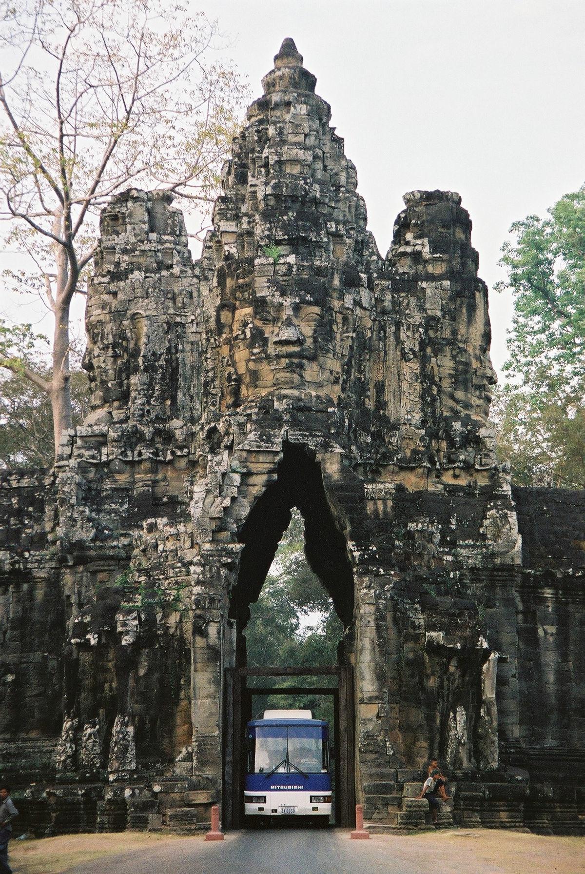 Kambodžský chrámový komplex Angkor Wat.