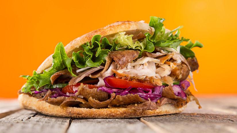 kebab, sendvič, jedlo, rýchle jedlo, fast food,...
