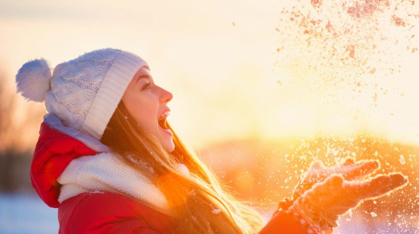 slnko, zima, radosť, imunita, vitamín D