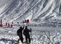 lavína, Tignes, pátranie, sneh