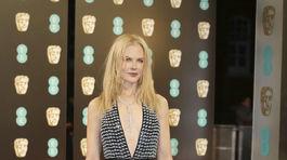 Nominovaná herečka Nicole Kidman v kreácii Armani Prive.