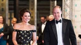 Princ William a jeho manželka, vojvodkyňa Catherine prišli na vyhlásenie cien BAFTA. Vojvodkyňa Catherine sa objavila v kreácii Alexander McQueen.