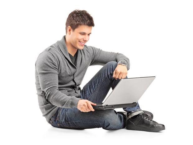 muž, počítač, laptop, notebook