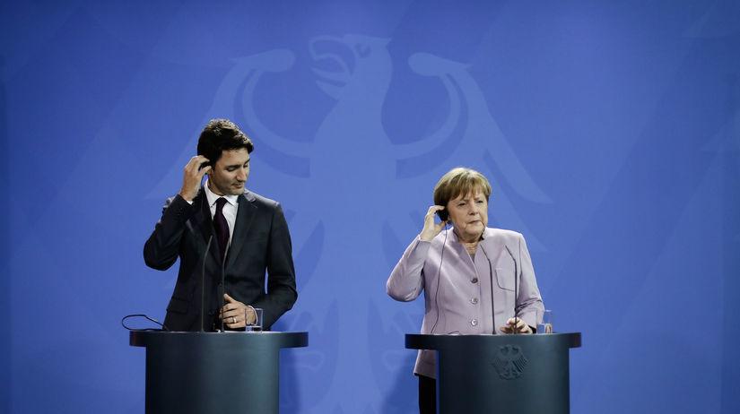 Justin Trudeau, Angela Merkelová