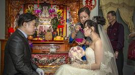 Taiwanská svadba, nevesta, ženích