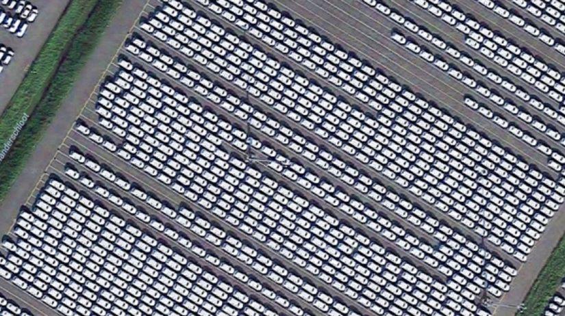 VW - parkovisko Emden